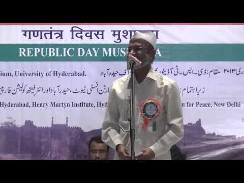 Republic day Mushaira Part 2 @ UoH2013