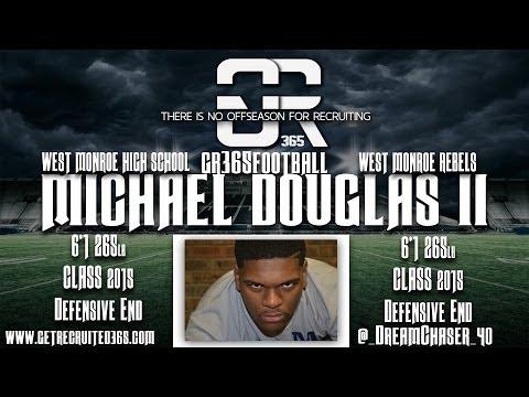 Michael Douglas II Class 2015 West Monroe High School DE Highlight video