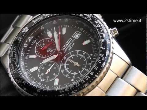2S Time : SEIKO SND253P1 Flightmaster Pilot Slide Rule Chronograph