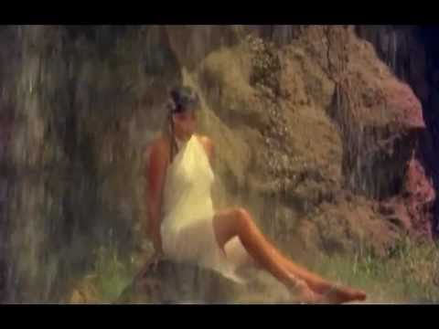 Zeenat Aman - Girl in white saree under a waterfall - Satyam...