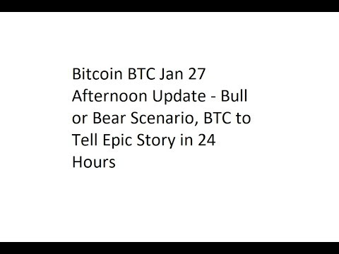 Bitcoin BTC Jan 27 Afternoon Update - Bull or Bear Scenario, BTC to Tell Epic Story in 24 Hours