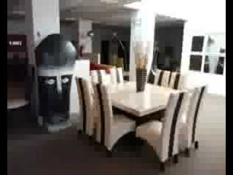 Comedor marmol 8 sillas sueca 61 youtube for Comedor de marmol