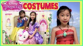 Pretend Play Disney Princess Costume Fashion Show