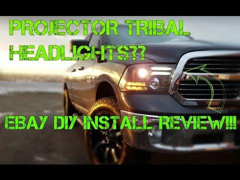 Spyder VIPMOTOZ Tribal Dodge Ram 1500 Projector LED Headlights???