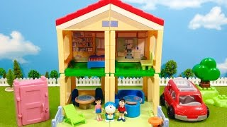 Doraemon House Blocks Playset : Car and Anywhere Door