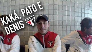 Kaká e Pato acabam com sossego de Denis no aeroporto   São Paulo FC