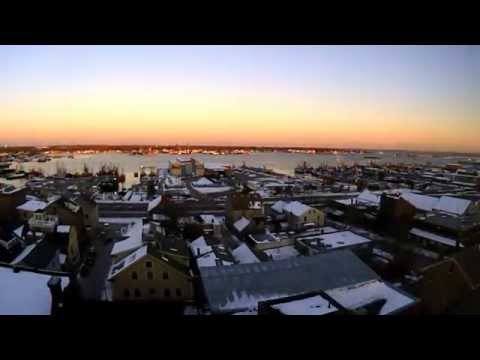 Time Lapse Video:  Sunrise Over New Bedford, MA
