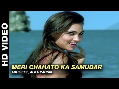 Meri Chahato Ka Samundar - Jurm   Abhijeet, Alka Yagnik   Bobby Deol & Lara Dutta