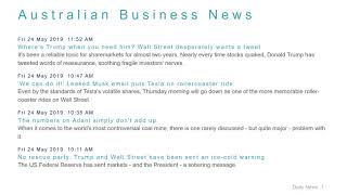 Business News Headlines for 24 May 2019 - 1 PM Edition