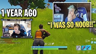 Ninja EMBARRASSED When Reacting to His FIRST Fortnite Game!