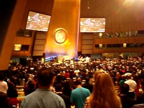 Pakistani National Anthem (UN General Assembly Hall) by Junoon...