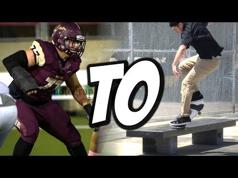 FROM COLLEGE FOOTBALL TO SKATEBOARDING ??? - NKA VIDS -