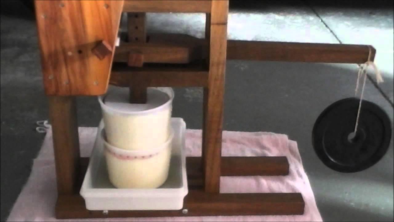 Как сделать сыр прессом 95