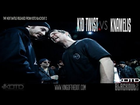 KOTD - Rap Battle - Kid Twist vs Knamelis