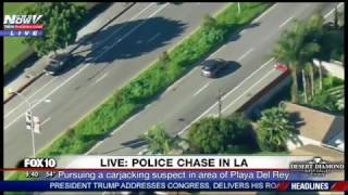 POLICE CHASE: Slow-Speed Pursuit, Suspect Drives in REVERSE in, Hour-Long LAPD Standoff (FNN)