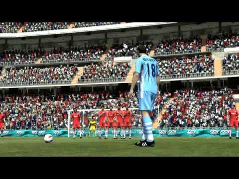 Gareth Barry free kick goal FIFA 12