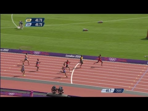 Athletics Men's 400m Hurdles Round 1  (6 Heats) - Full Replay -- London 2012 Olympic Games