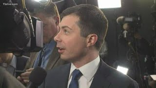 Mayor Pete Buttigieg after the debate in Atlanta addresses concerns on his experience, connecting wi
