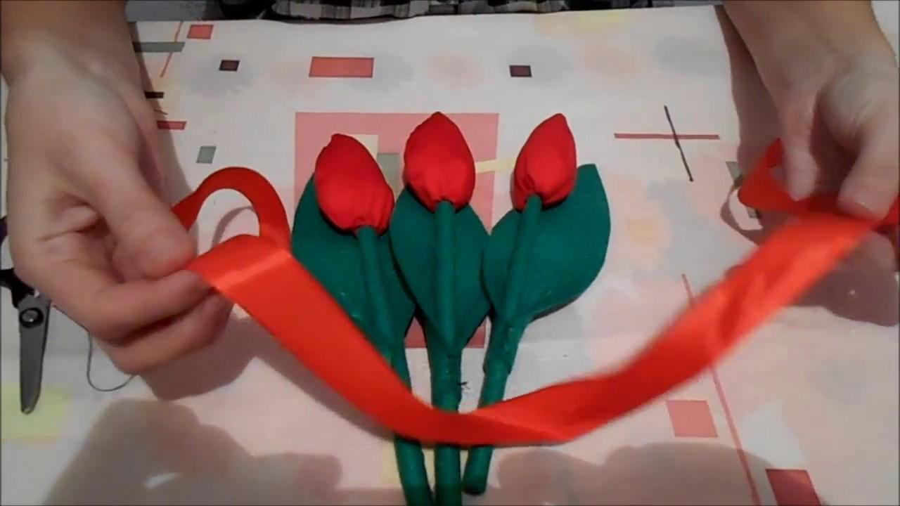 Как своими руками сделать тюльпаны из 336