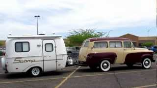 Dodge D100 Town Wagon w/ Scamp Trailer