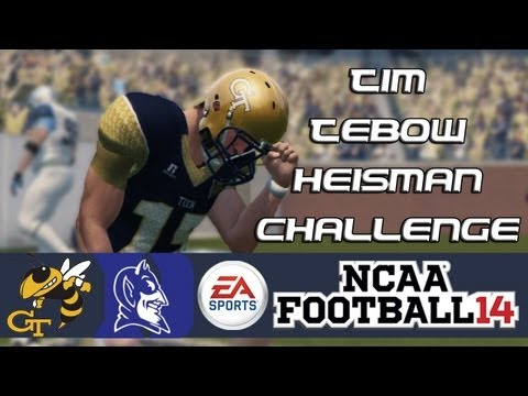 NCAA Football 14 Heisman Challenge Mode: Tim Tebow EP2 - Sloppy Game (Week 3 vs. Duke)