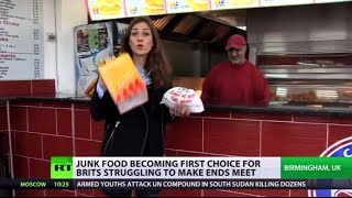 Health Takeaways: Junk food is first choice for Brits struggling to make ends meet