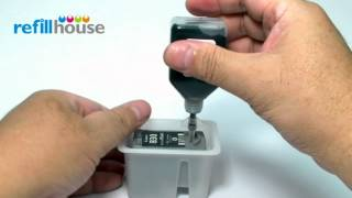 How to refill Canon PG-830 Inkjet Cartridge - Auto-Refill System