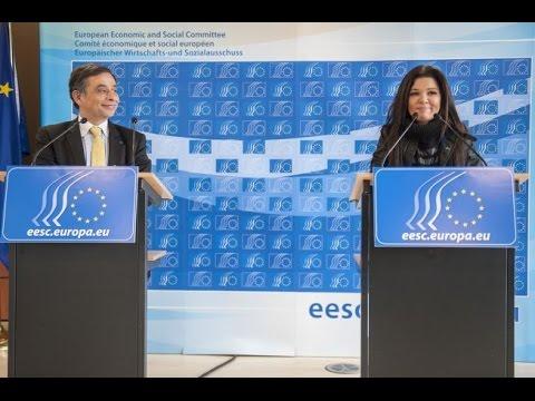 Henri Malosse EESC President Post Ruslana press conference with euspectator