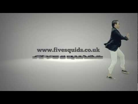 I will make Psy dance in GANGNAM Style around your logo or text