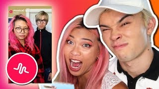 REACTING TO OUR OLD MUSICALLYS TOGETHER!! *before we were ourfire*