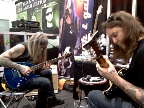 Wino and Matt Pike Jamming at the LACE Music Products Booth at NAMM 2012