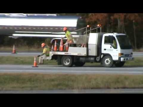 Safer way to place cones on hwy.mpg