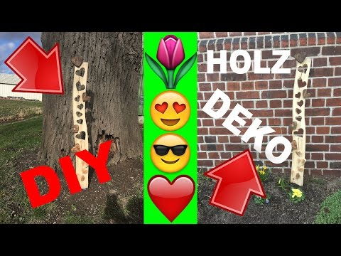 DIY HOLZ Gartendeko Baumstamm mit Herz / Garden Decoration with heart