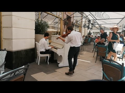 Bagossy Brothers Company –Olyan ő (piano violin cover by üZENEt in Gerbeaud Café, 2020)