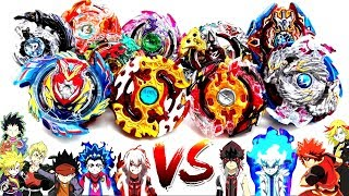 God Beigoma Academy VS God 4 Spin Emperors -TEAM BATTLE- Beyblade Burst Evolution!神 米駒学園 vs 四転皇