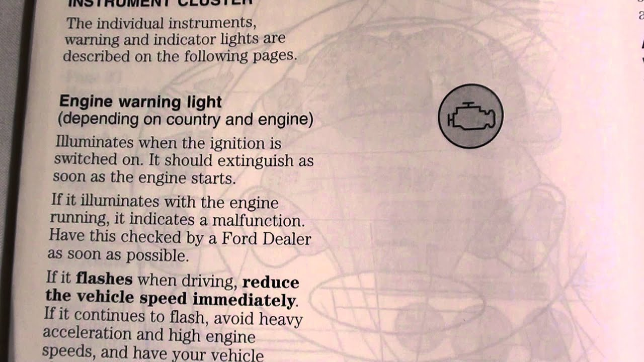 Ford Focus Engine Warning Management Light How To Deal