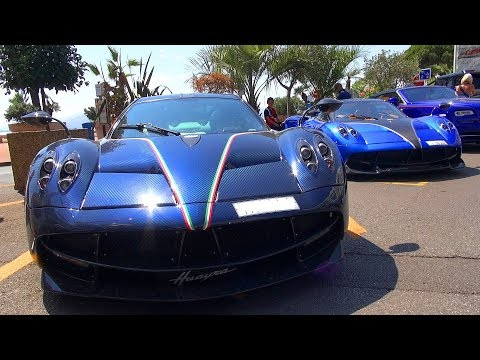 Pagani Huayra COMBO Causing Mayhem And Big Crouds In Monaco & Cannes !!