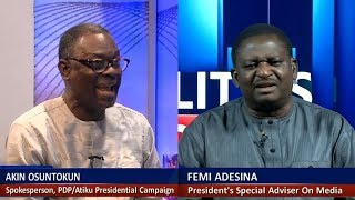 Adesina, Osuntokun In Heated Debate Over Buhari's Anti-Corruption War