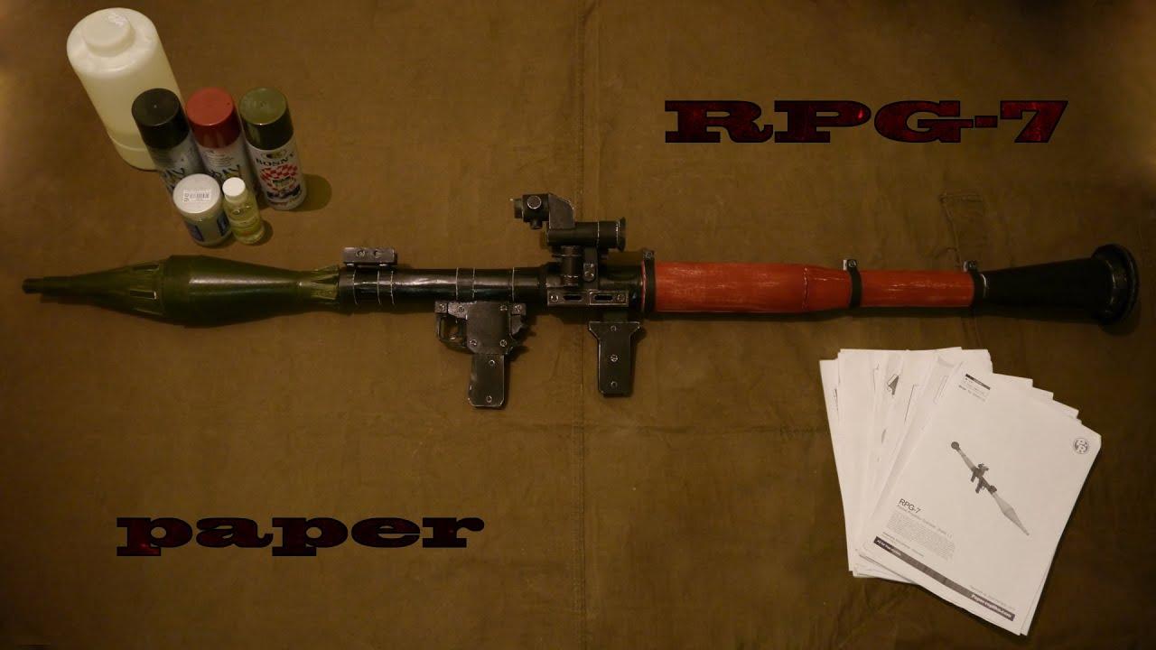 Paper war. RPG-7. Оружие из бумаги. РПГ-7. - YouTube