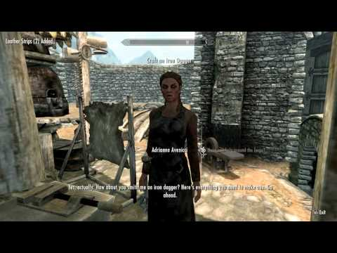 Skyrim walkthrough part 5: How To Do Smithing Training