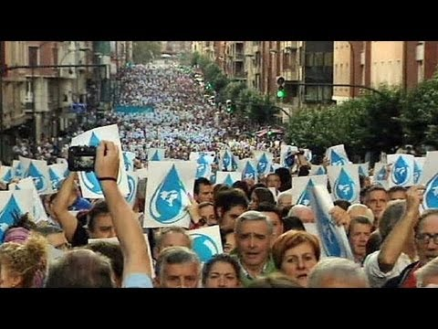 Spain: Protest against ETA prisoners' group arrests