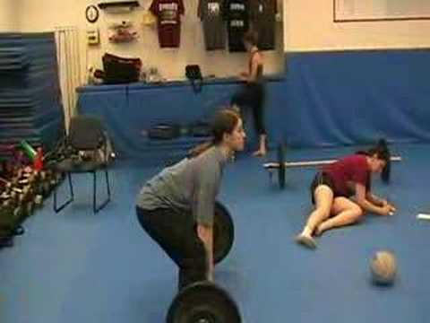 Jerry Hill's CrossFit Challenge; Sumo Deadlift high Pull Image 1
