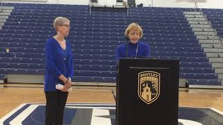 VIDEO: Barbara Stevens Court officially dedicated at Bentley University
