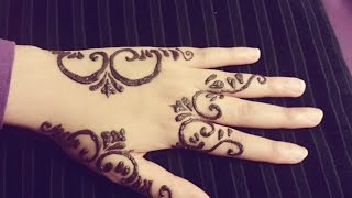 Arabic Henna Tattoo - Simple Arabic Mehendi Design - Easy Stylish Henna