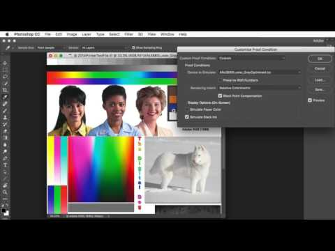 Soft proofing in Adobe Photoshop CC