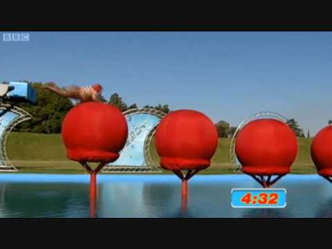 FAT WOMAN ON BBC TOTAL WIPEOUT FUNNY