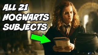 ALL 21 SUBJECTS Taught at Hogwarts - Harry Potter Explained
