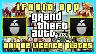 GTA V iFRUIT APP | UNIQUE PERSONALISED LICENCE PLATES | FREE CAR TUNE-UP | CHOP THE DOG | HD