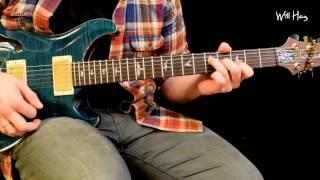 Ramble On - Led Zeppelin guitar tutorial part 1 - Intro/Verse Rhythm