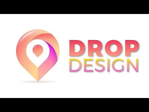 Drop Logo Design 3D Logo design In Adobe Illustrator